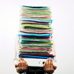 stack of reports