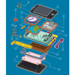 fanciful mobile phone teardown