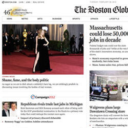 Boston Globe responsive navigation