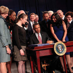 President Obama signing the America Invents Act
