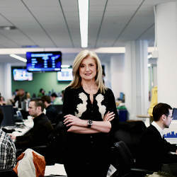 Arianna Huffington of the Huffington Post Media Group