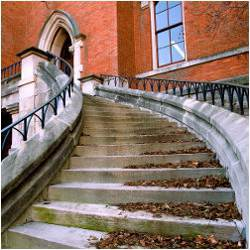 stairs of college building
