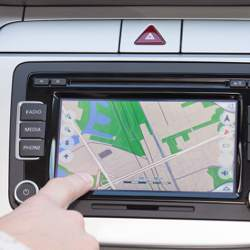 Using an automotive GPS system.