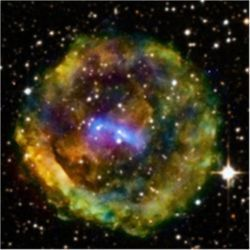 Remains of Type II supernova
