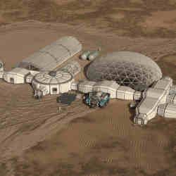 A potential Mars habitat.