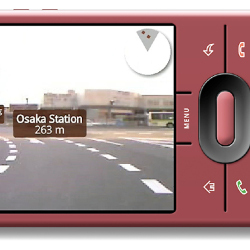 Google Android smartphone with Enkin 3D navigation system
