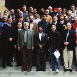 attendees of Jeff Ullman's retirement celebration in 2003