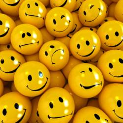 smiley faces with different expressions