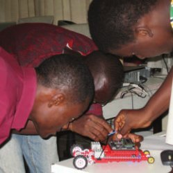 robotics course at Ashesi University College in Ghana