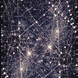 illuminated constellation-like pattern
