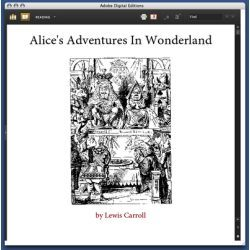 front page of Alice's Adventures in Wonderland