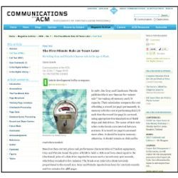 Communications Web Site