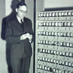 M.V. Wilkes during EDSAC I construction