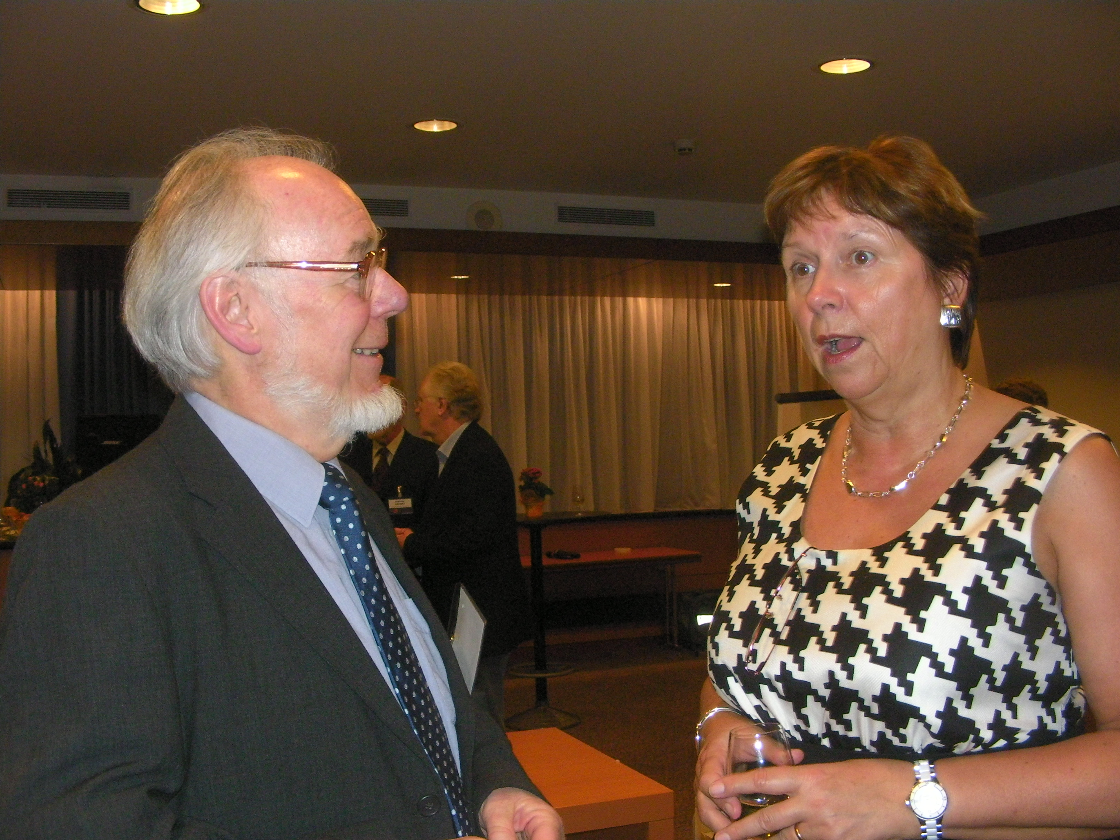 Brian Randell with Wendy Hall at ECSS 2009 in Paris