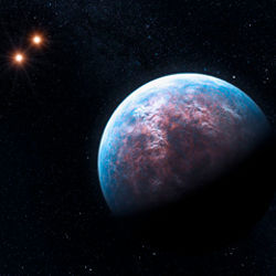Gliese 667 C and a pair of stars