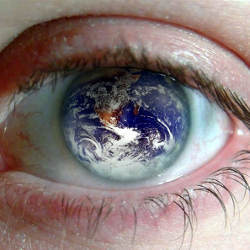 world in eyeball