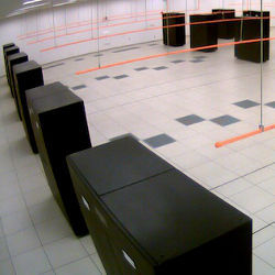 the Blue Waters Supercomputing room