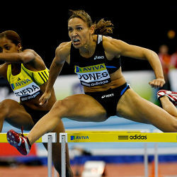 Lolo Jones hurdling