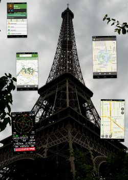 Eiffel Tower and Google Maps
