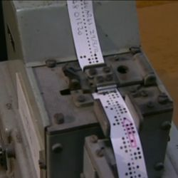 punch tape on Witch computer