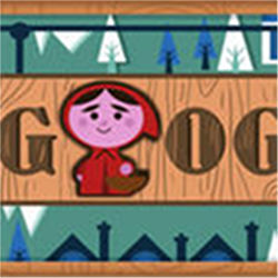 Google doodle Little Red Riding Hood