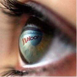 Yahoo reflected in eye