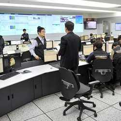 Officials at a South Korean computer security agency.