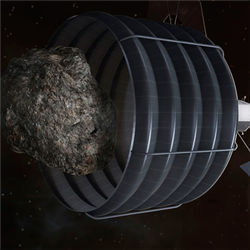 Capture near-Earth asteroid