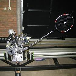 The badminton-playing robot.