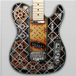 Steampunk 3-D guitar