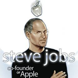 A drawing of Apple's Steve Jobs.