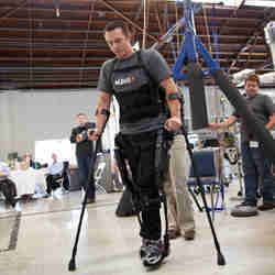 Ekso exoskeleton test pilot and ambassador Jason Gieser
