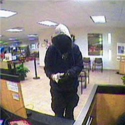 Surveillance footage of one of the robbers