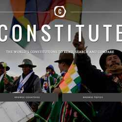 Opening screen of the Comparative Constitutions Project website.