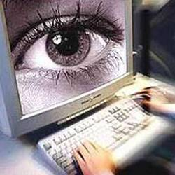 Artist's representation of online surveillance.