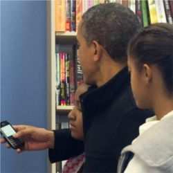 Obama, daughters, Blackberry