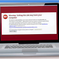 A typical malware warning.