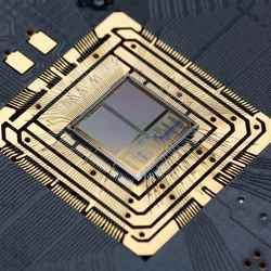 A neuromorphic chip designed by the Heidelberg group of Karlheinz Meier.