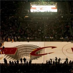 The Cleveland Cavaliers New 3 D Floor Projection System Is