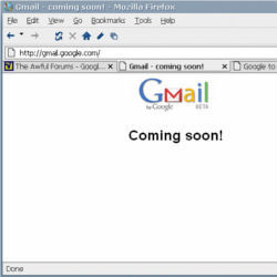 Gmail home page 2004