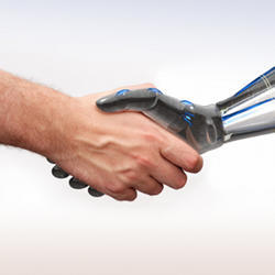 A handshake from some friendly technology