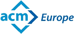 The logo of ACM Europe.