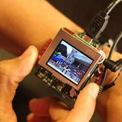 This prototype smartwatch gives users more input options by being able to tilt, click or twist its face.