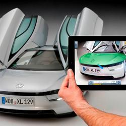 A demonstration of Volkswagen's MARTA augmented reality system.