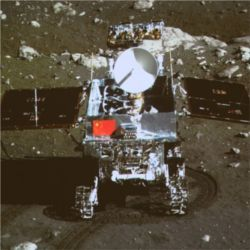 China Yutu rover on moon