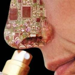 Artist's conception of an electronic nose.