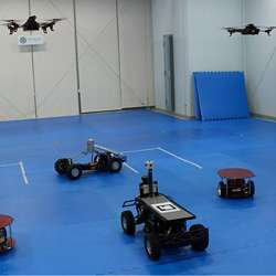 The agents of the prototype UGV/UAV cooperative system.