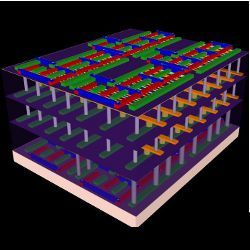 four-layer prototype chip, illustration