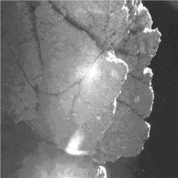Philae lander view of comet 67P/Churyumov-Gerasimenko