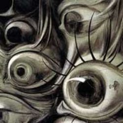 Salvador Dali Eye's, detail